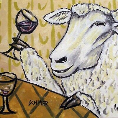 SHEEP  WINE FARM ANIMAL CERAMIC gift art tile coaster