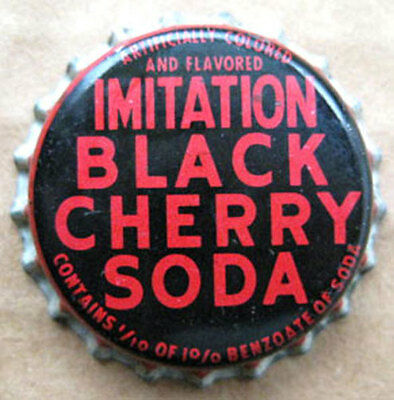 IMITATION BLACK CHERRY SODA cork-lined CROWN, Bottle CAP, 1950'S