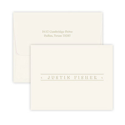 PERSONALIZED STATIONERY EMBOSSED BUSINESS BANNER NOTES