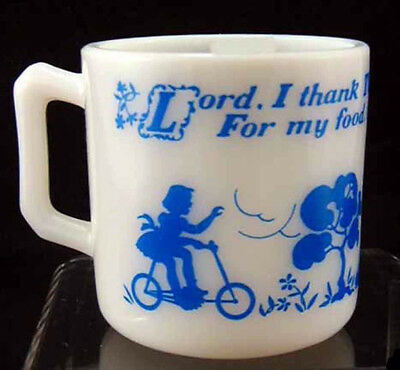 Hazel Atlas Alphabet L- Lord  I Thank Thee Child's Mug - FREE SHIPPING!