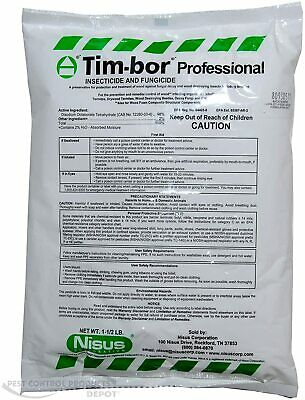 8 Timbor Insecticide Fungicide Wood Preservative 12 LBS