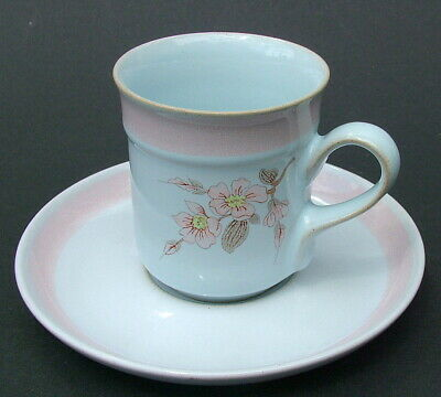 Vintage 1980's Denby Normandy Pattern 100ml Coffee Cups & Saucers - Look in VGC