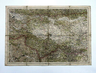 Antique Part Bulgaria Sofia Plovdiv Topographic Map *