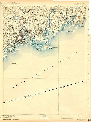 64 Vintage USGS Maps CONNECTICUT, RHODE ISLAND COAST CD