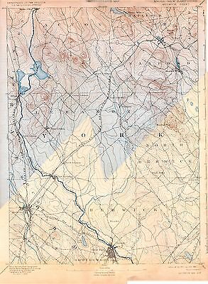 74 Vintage USGS Topo Maps of Southern NEW HAMPSHIRE CD