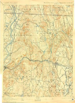 44 Vintage USGS Topo Maps FRANKLIN Co MASSACHUSETTS CD