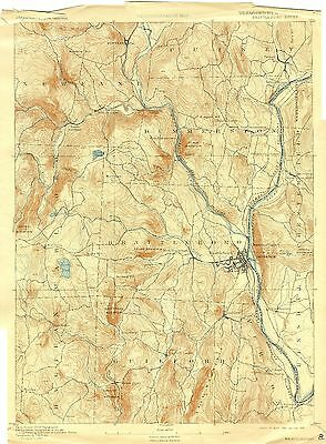 57 Vintage USGS Topo Maps of Southern VERMONT on CD