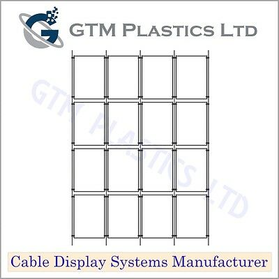 Cable Window Estate Agent Display - 4x4 A4 Portrait - Suspended Wire Systems