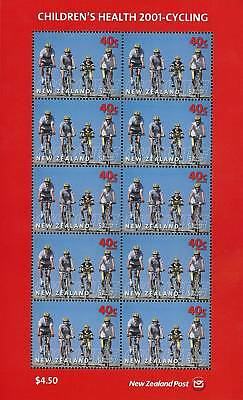 New Zealand Stamp, 2001 Health Cycling Stamp, Sport