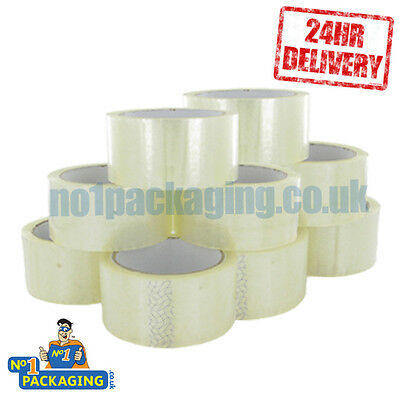 144 ROLLS OF *STRONG* CLEAR SELLOTAPE PARCEL TAPE*48mm x 66M (2 INCH) PACKAGING
