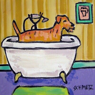 IRISH TERRIER bath ceramic dog gift art tile coaster artwork