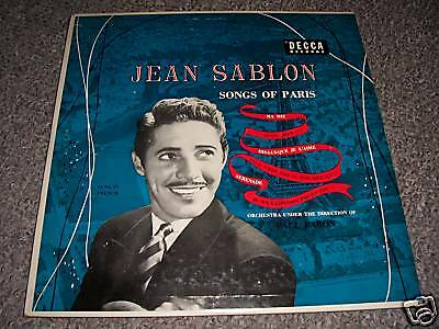 Jean SABLON - Songs of Paris / Rare US DECCA DL 5398 !!