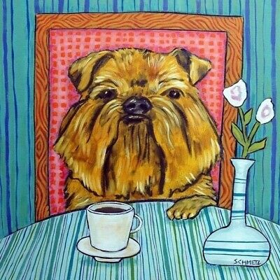 Brussels Griffon coffee picture animal dog art tile