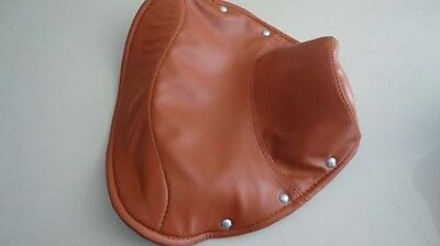 Vespa Light brown solo driver seat saddle COVER VBA VBB
