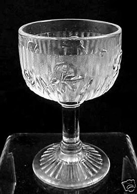 Jeannette Glass Iris & Herringbone Cocktail Goblet (s) 4oz
