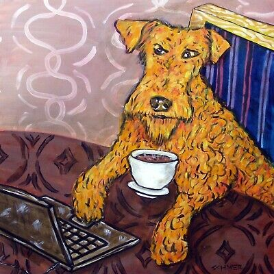 Irish Terrier coffee animal art tile coaster pet gift