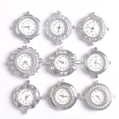10PCS Mixed Silver Quartz Watch faces for beading FREESHIP