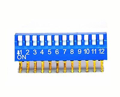 50pc 12P 12 Positions Side Piano Right Angle Type DIP Switch RoHS Taiwan