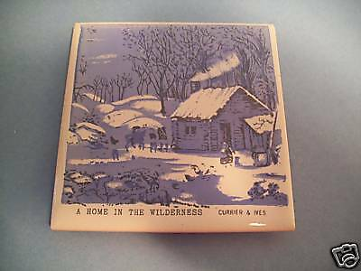 Ceramic tile CURRIER & IVES A HOME IN THE WILDERNESS