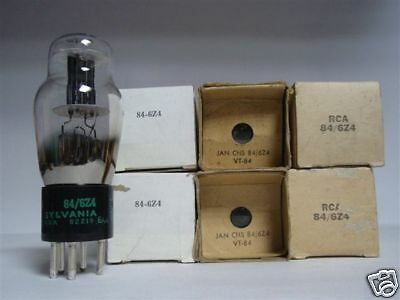 84 Tube. 6Z4 Tube. Mixed Brands. Nos / Nib. Rc62