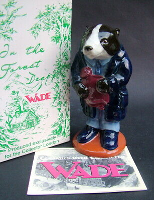 Wade Bertram Badger Fig From the Forest Deep Series New + Boxed & Certificate