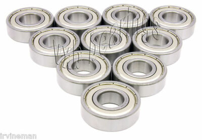 10 Ball Bearings 6201-ZZ Electric Motor Quality 6201Z 12mm Metric Axle Size Bore