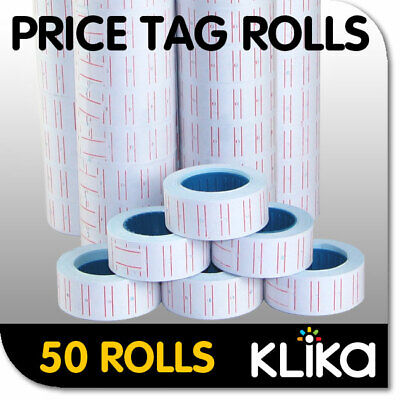 50 x PRICING PRICE TAG TAGGING GUN LABEL ROLLS BULK