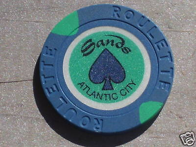 ROULETTE CHIP FROM THE SANDS CASINO, ATLANTIC CITY