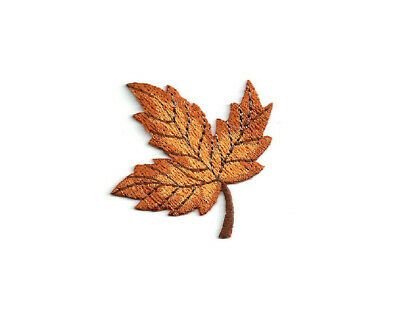 Leaf - Leaves - Autumn - Fall - Thanksgiving - Embroidered Iron On Patch - OR