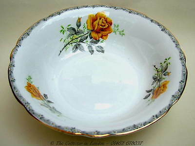 Vintage 1960's Royal Stafford Roses to Remember Yellow Fruit Salad Bowl 23cm VGC
