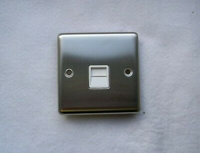 Master Telephone Socket In Stainless Steel By British Guardian