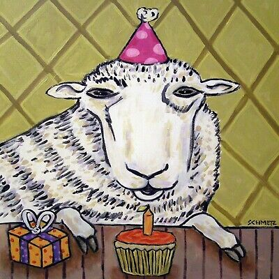 Sheep birthday Ram art tile coaster gift GIFTS COASTERS TILES