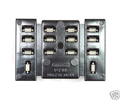 2pc Relay Socket OMRON PT14-0 14pin PCB solder Terminal for LY4 LY4N LY4NJ Japan