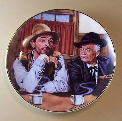 Gunsmoke FESTUS AND DOC Plate Franklin Mint TV Television Old West Classic