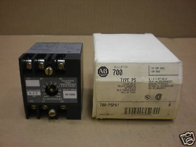 1 Nib Allen Bradley 700-Pspa1 700Pspa1 Timing Relay Off Delay 0.1-2 Seconds 120V