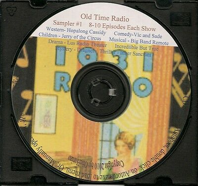 Vintage Radio Programs - Complete Sampler Audio CD #1