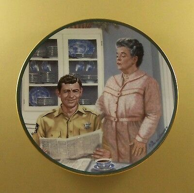 The Andy Griffith Show AUNT BEE'S KITCHEN Plate TV Television Robert Tanenbaum