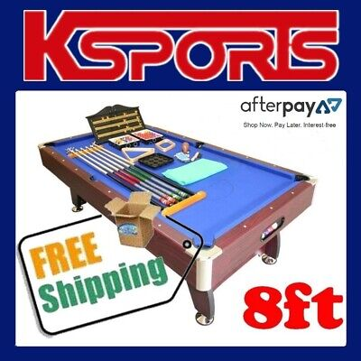 Pool Table 8Ft Pub Size Snooker Billiard Table Blue - Brand New