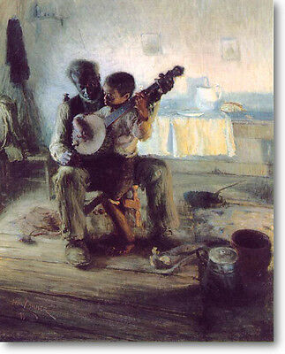 Henry Tanner The Banjo Lesson Stretched Canvas Giclee Art Repro 36 x 24 ETHNIC