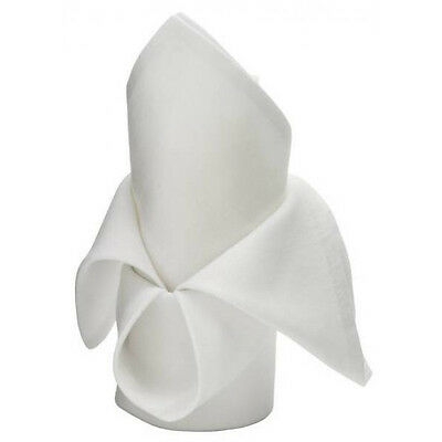 48 white restaurant dinner cloth linen napkins 20x20