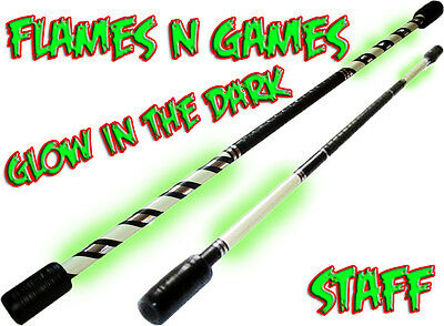 1.4m Glow Luminous Contact Practice staff / Fire Staff Juggling