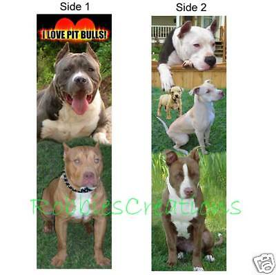 PIT BULL BOOKMARK Book Charm Marker American photo Dog Pitbulls Lover GR8 Gifts