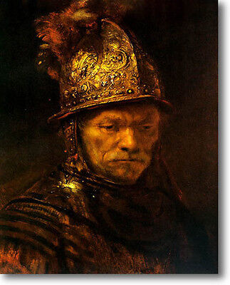 4 Ft Rembrandt Man Golden Helmet Fine Art Canvas Repro