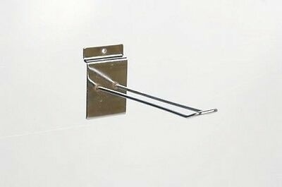 "10 x NEW 6"" SLATWALL SLAT SHOP DISPLAY EURO PRONG HOOKS"