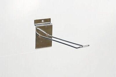 "100 x NEW 12"" SLAT WALL SHOP DISPLAY EURO PRONG HOOKS"