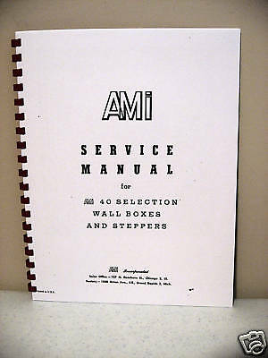 AMI Wall Box 40 Selection & SL & SM Steppers Manual