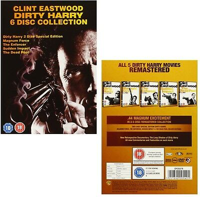 DIRTY HARRY 1-5 1971-1988: 5 Movie Clint Eastwood COLLECTION - NEW R2 DVD not US