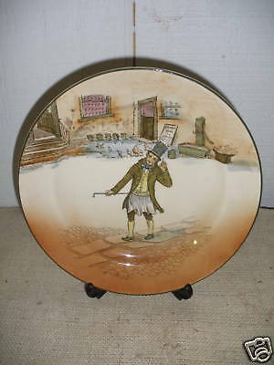 Antique Royal Doulton Plate  Trotty Veck   Dickens 8""