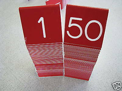 Tent Style Engraved Table Numbers 1-25