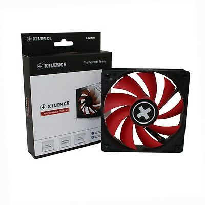 Lüfter 120 mm Xilence Red Wing 22 dB 12 V 3 + 4 Pin Molex Hydro Kugellager leise